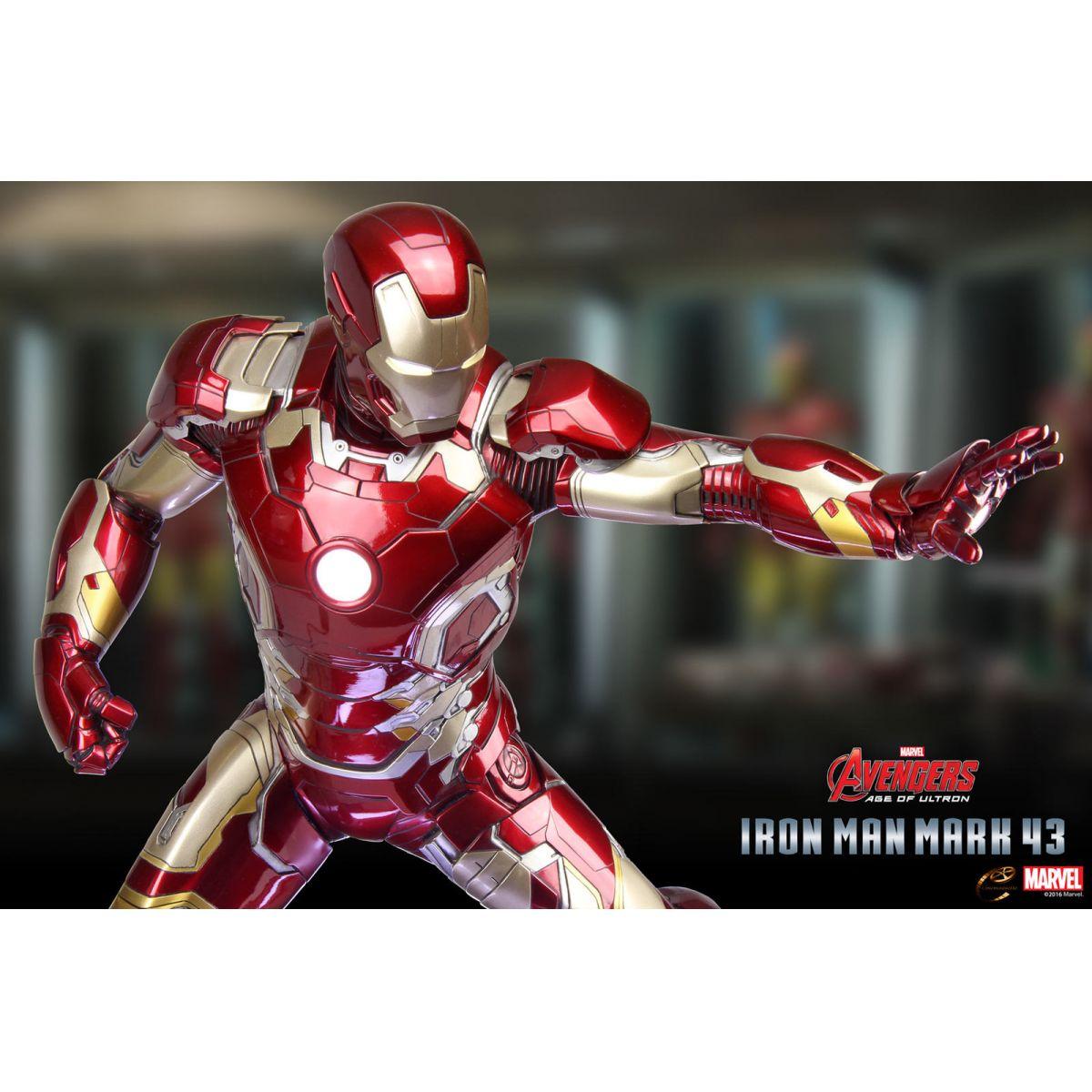Estátua Homem de Ferro (Iron Man) Mark XLIII: Vingadores: Era de Ultron Escala 1/3 - Cinemaquette - CD