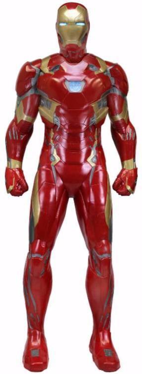 Estátua Homem de Ferro (Iron Man) Mark XLVI: Capitão América Guerra Civil (Civil War) Life-Size Foam Réplica Escala 1/1 - NECA