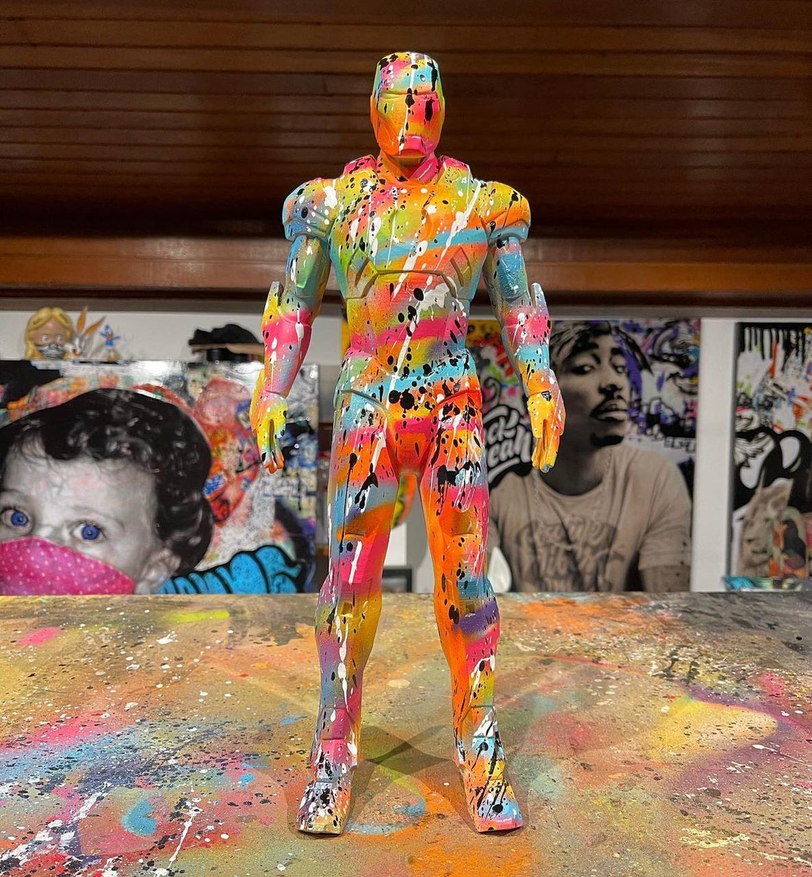 Estátua Homem de Ferro Iron Man Pop Art By Russ - EV
