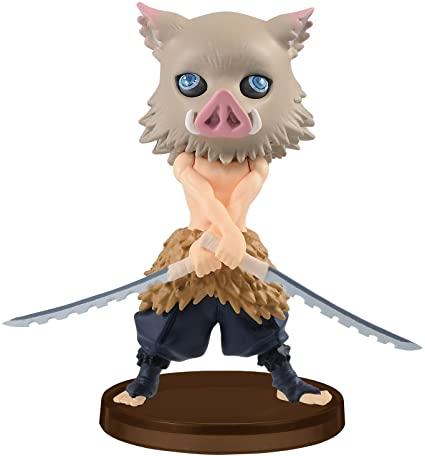 Estátua Inosuke Hashibira Demon Slayer Kimetsu no Yaiba Qposket - Banpresto - EVALI