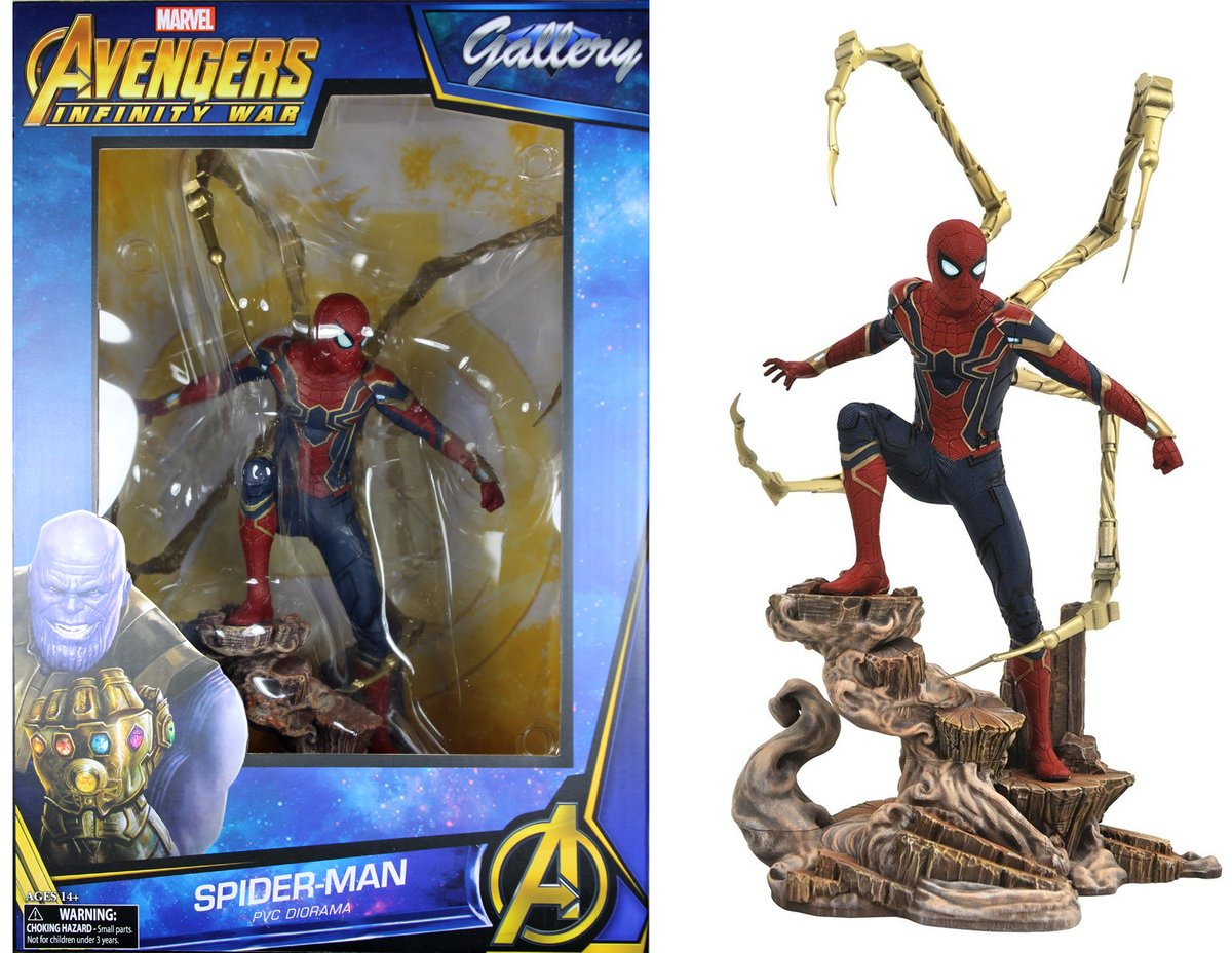 Estatua Iron Spider - Spider-Man: Vingadores Guerra Infinita Diamond Select - Marvel Gallery