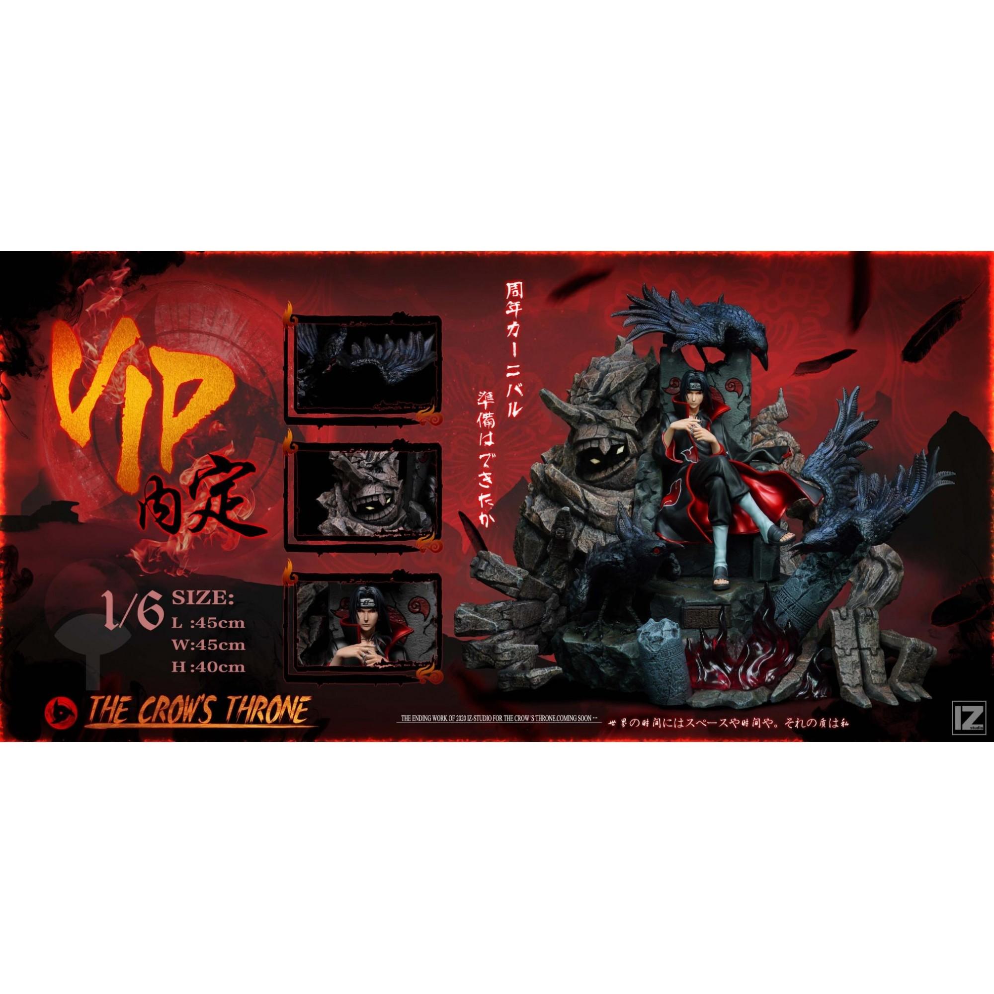 PRÉ VENDA: Estátua Itachi Uchiha No Trono: Naruto Shippuden Escala 1/6 - IZ Studio