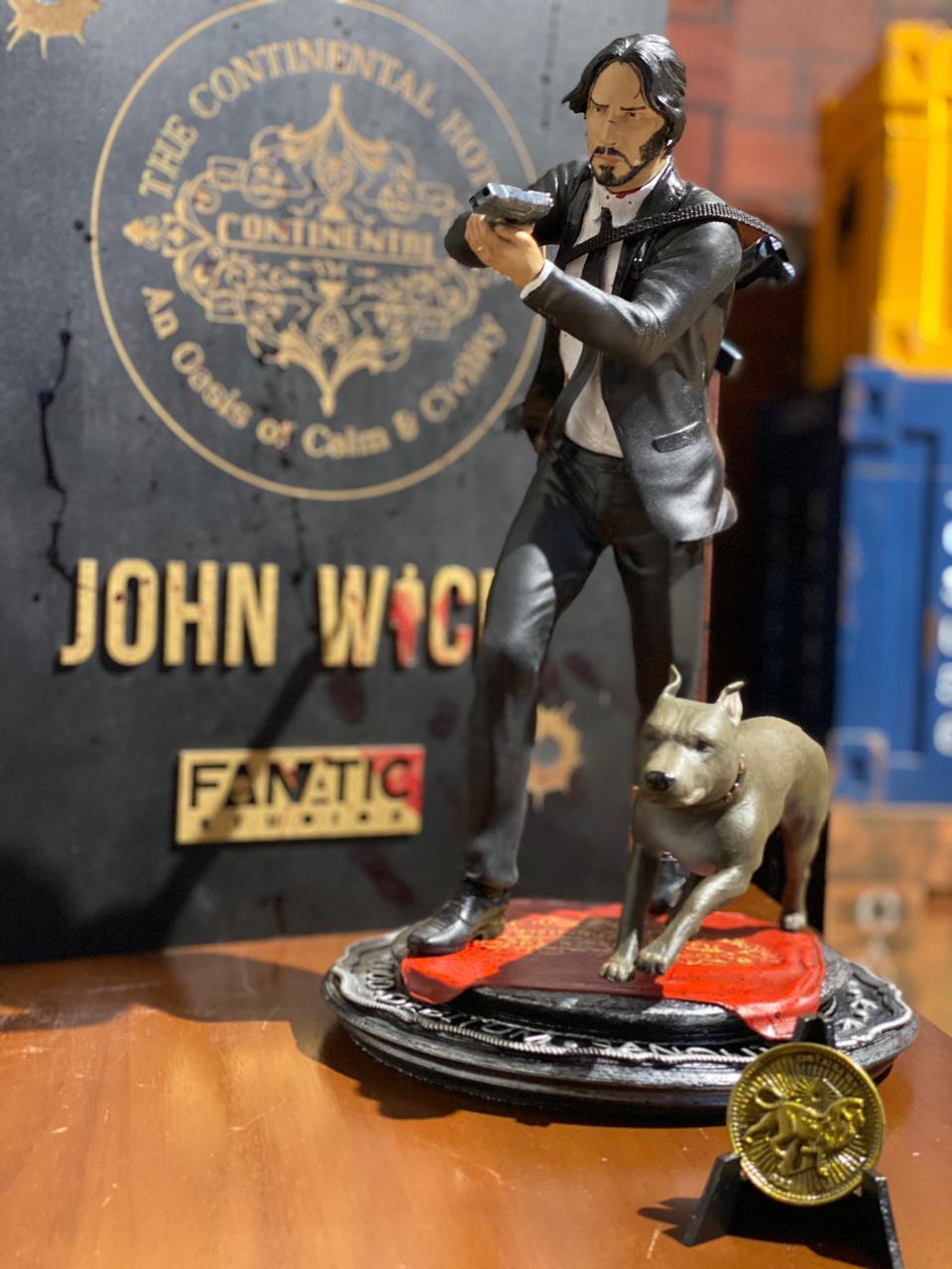 Estátua John Wick: John Wick Um Novo Dia Para Matar Escala 1/6 - Fanatic Studios