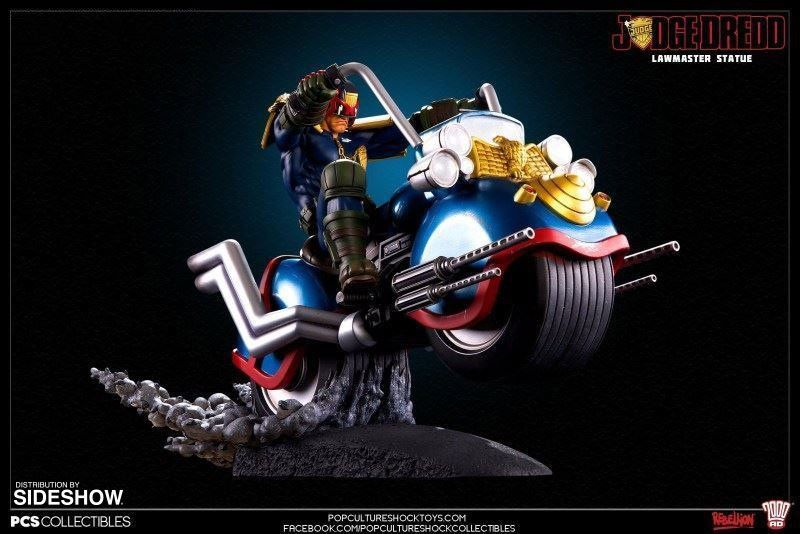 Estátua Juiz Dredd na Lawmaster: Judge Dredd - Pop Culture Shock