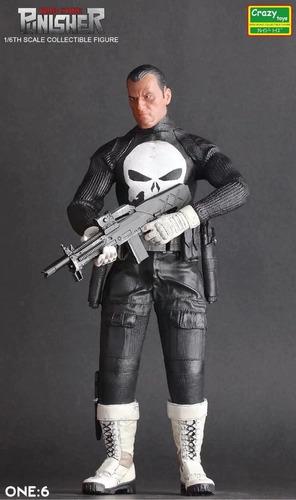 Estátua Justiceiro War Zone (Punisher War Zone): O Justiceiro Escala 1/6  - Crazy Toys