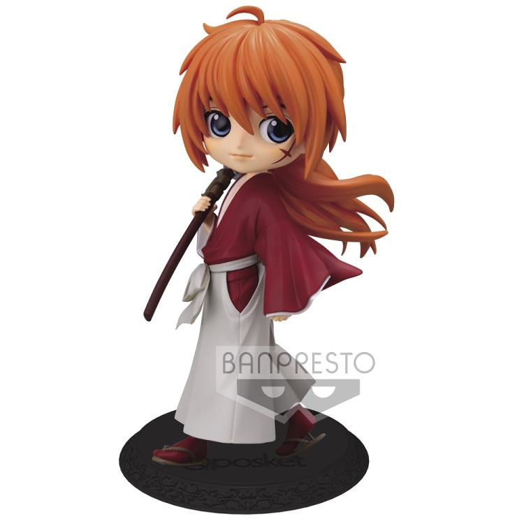 Estátua Kenshin Himura Rurouni Kenshin: Samurai X Qposket Bandai 22969 - Banpresto