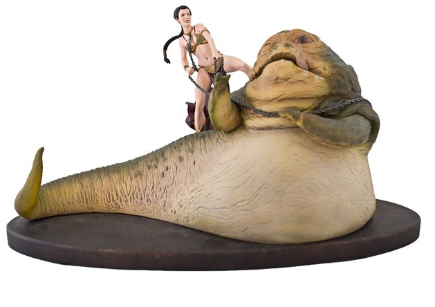 Estátua Leia vs Jabba The Hutt (Diorama): Star Wars Episódio VI O Retorno de Jedi (Return of the Jedi) - Sideshow - CG