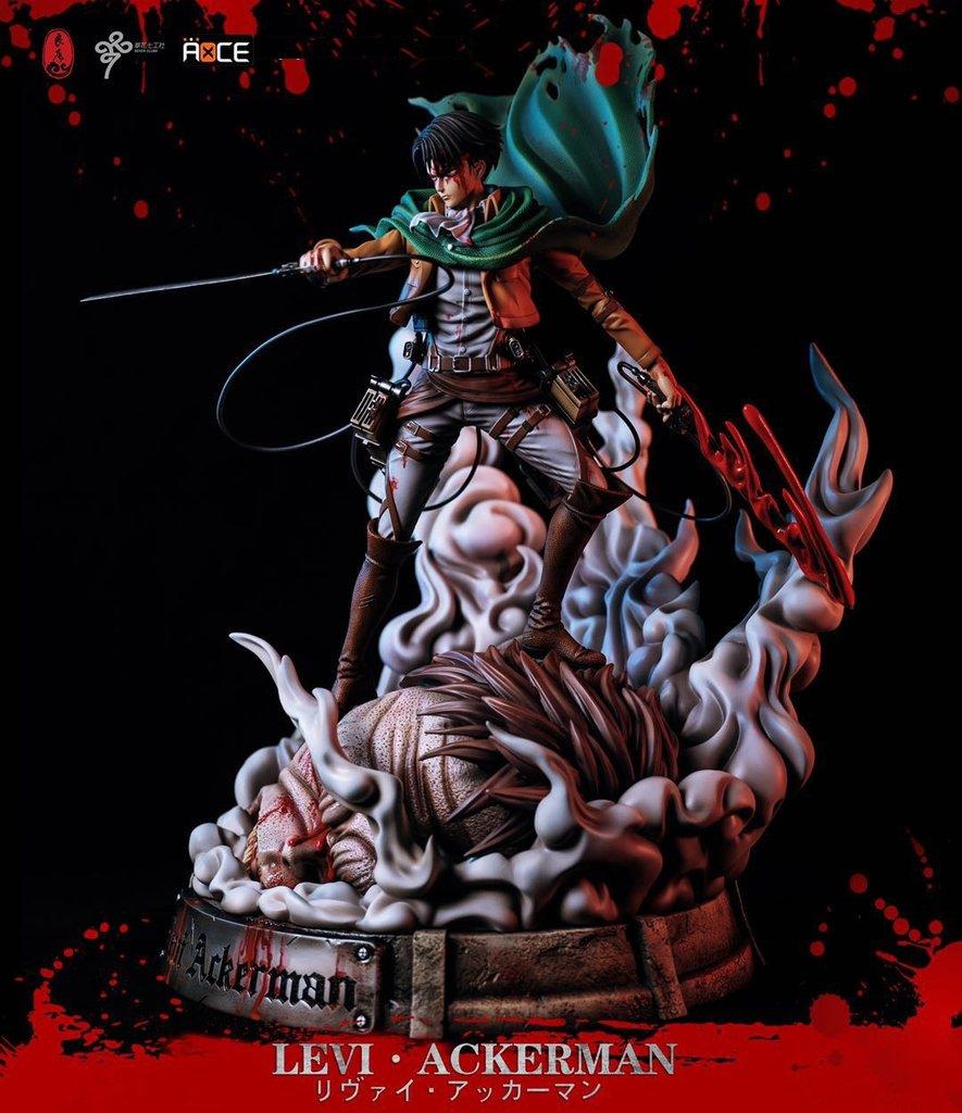 Estátua Levi Ackerman E Titan Bestial Attack On Titan Shingeki No Kyojin Escala 1/6 - EV