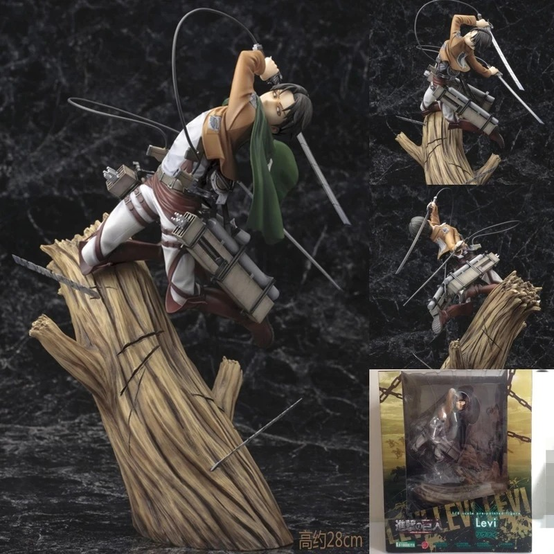 Estátua Levi Ackerman no Tronco: Ataque dos Titãs Attack on Titan Shingeki no Kyojin - Kotobukiya -