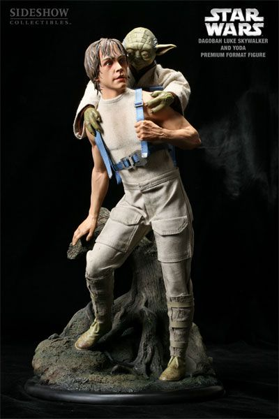Estátua Luke Skywalker e Yoda (Dagobah Training): Star Wars O Império Contra Ataca (Premium Format) Escala 1/4 Sideshow - CG