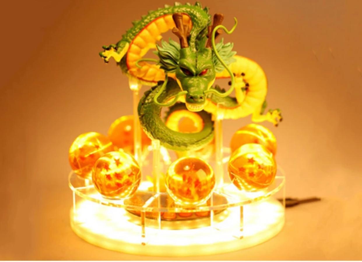 Estátua Luminária Com Suporte Shenlong Shenron Esferas do Dragão: Dragon Ball Z - Anime Mangá - EVALI