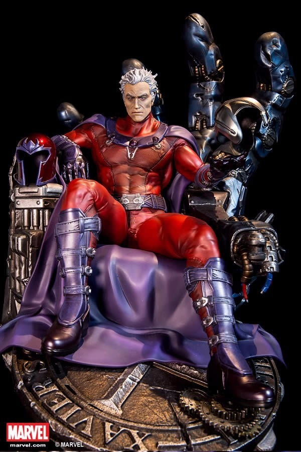 Estátua Magneto Trono de Sentinela X-Men Man Marvel Comics Escala 1/4 Format Premium  - XM Studios - CD
