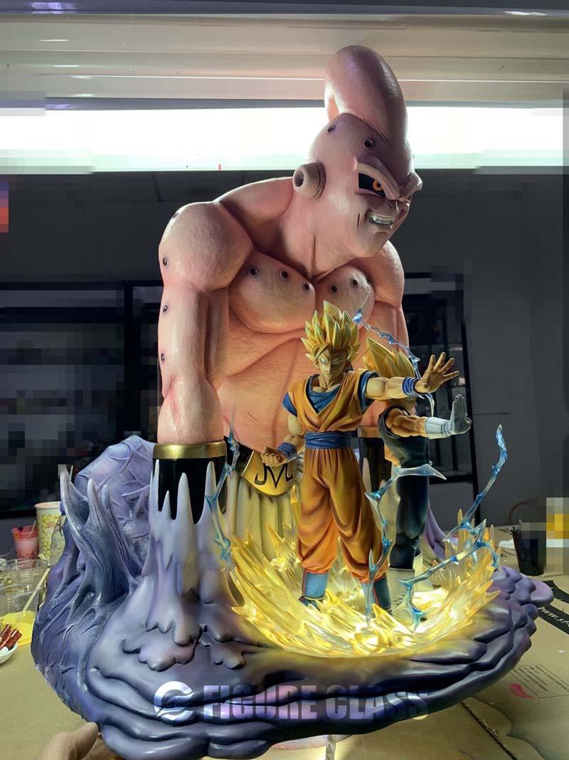Estátua Majiin Buu Vegeta e Goku: Dragon Ball Z - EVALI