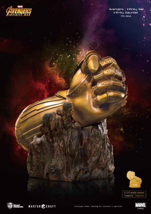 PRÉ-VENDA Estátua Manopla do Infinito (Infinity Gauntlet): Vingadores: Guerra Infinita (Avengers: Infinity War) (Master Craft) (MC-004) (Exclusive) - Beast Kingdom