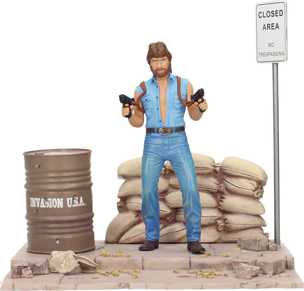 Estátua Matt Hunter (Chuck Norris): Invasão U.S.A (Invasion U.S.A.) - SD Toys
