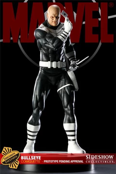 Estátua Mercenário Bulleye Marvel Comics Escala 1/4 Format Premium  - Sideshow Collectible - CD