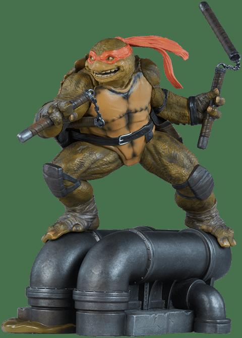 Estátua Michelangelo: Tartarugas Ninjas (TMNT) (Escala1/6) - Sideshow Collectibles