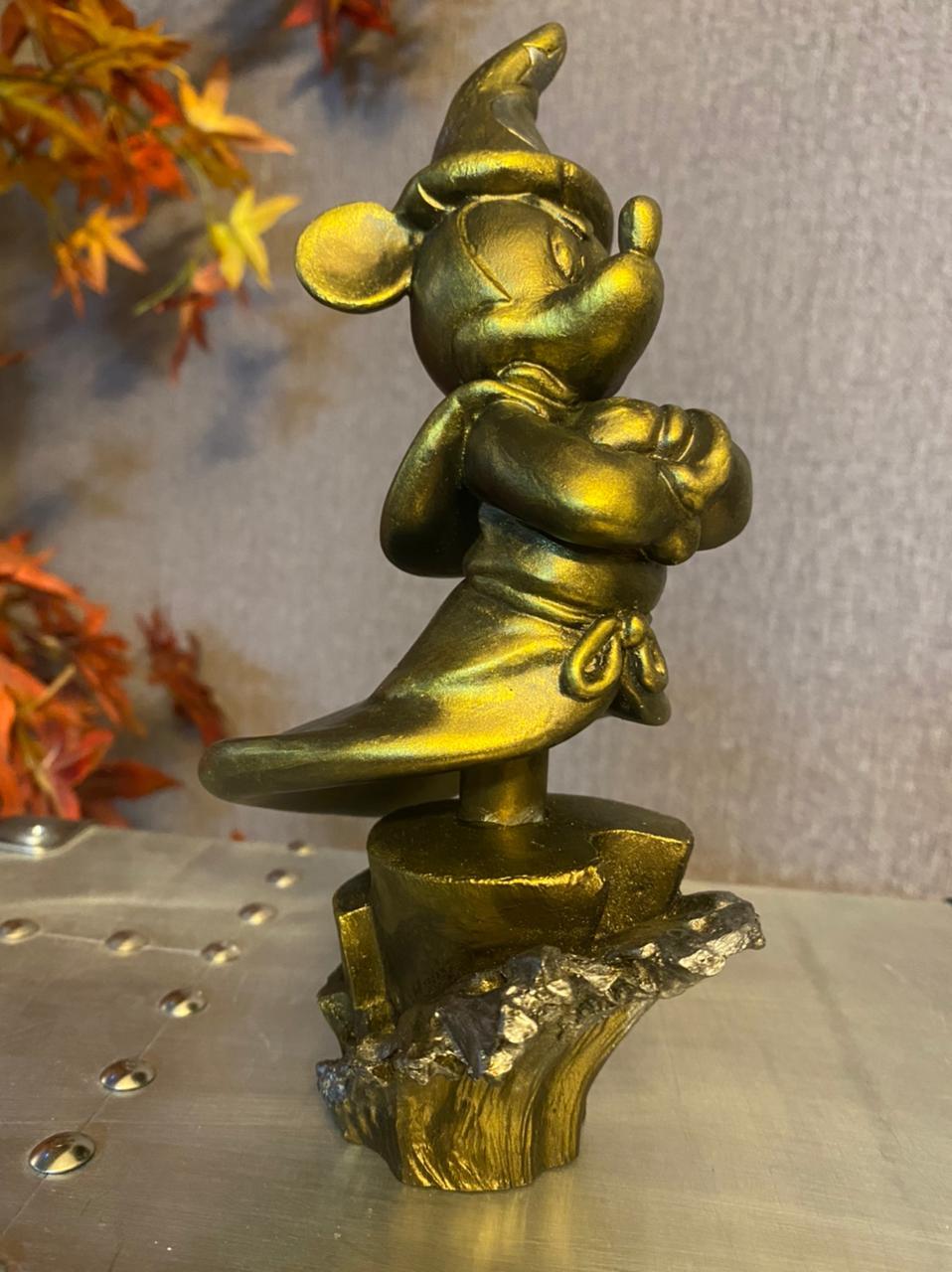 Estátua Mickey Mouse Sorcerer Gold Edition - EV