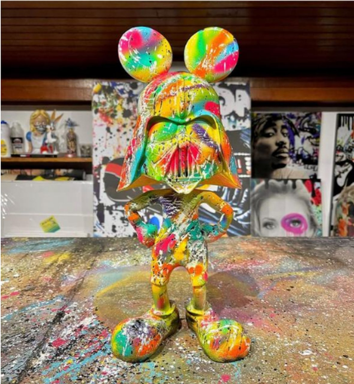 Estátua Mickey Vader Pop Art By Russ - EV