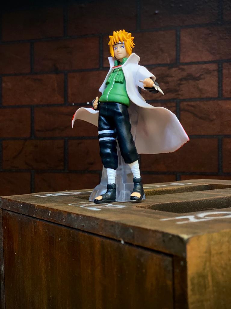 Estátua Mini Figura Minato Namikaze: Naruto Shippuden 12 cm - Anime Mangá