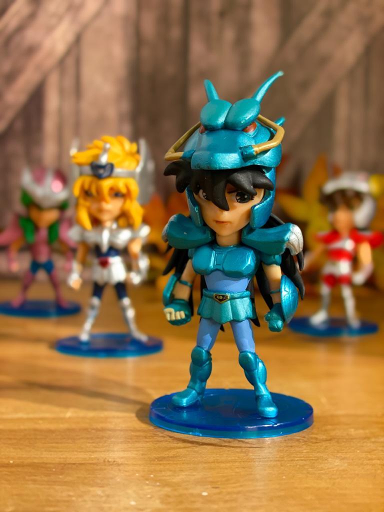 Estátua Miniatura Shiryu De Dragão: Os Cavaleiros Dos Zodíacos Saint Seiya - Anime Mangá