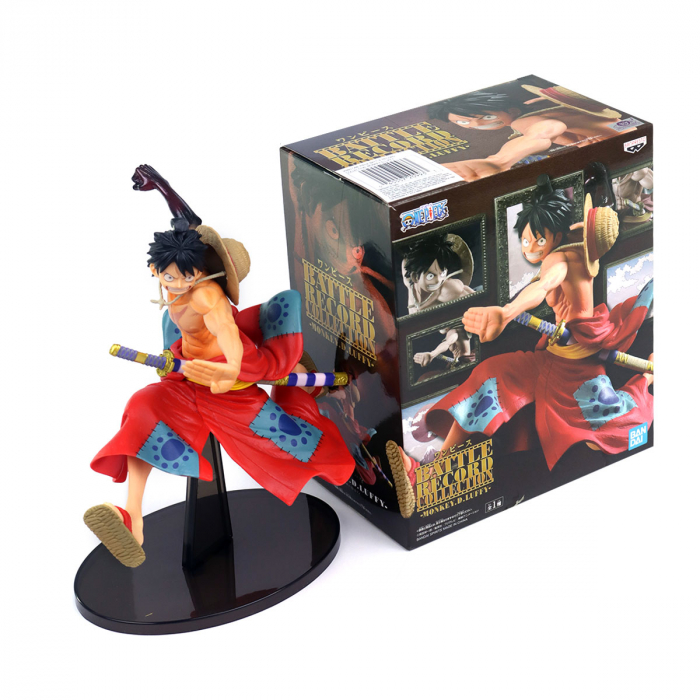 Estátua Monkey D. Luffy One Piece Saga Wano Battle Record Collection - Banpresto Bandai