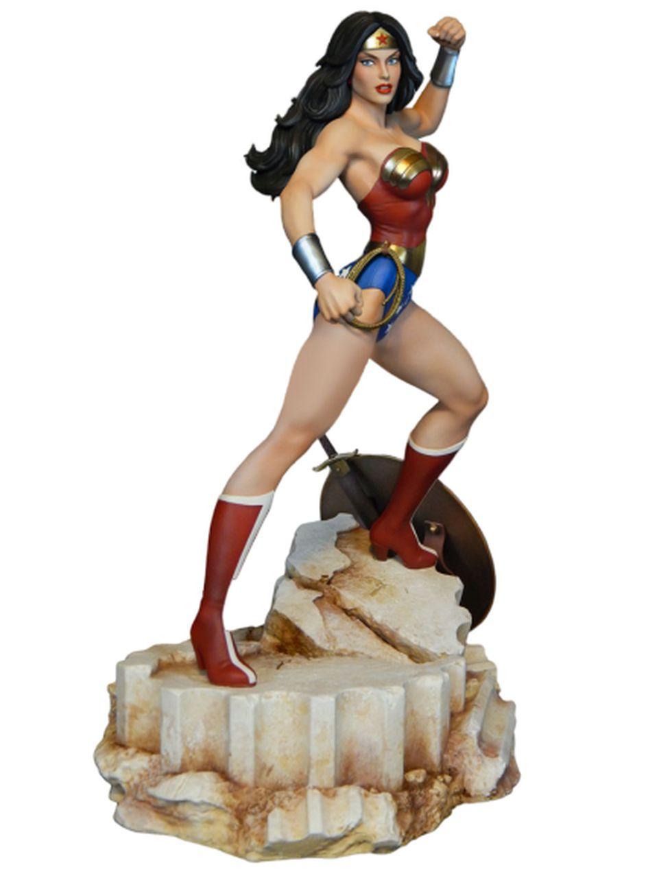 Estátua Mulher-Maravilha (Wonder Woman)  Super Powers Maquette - Tweeterhead (Apenas Venda Online)
