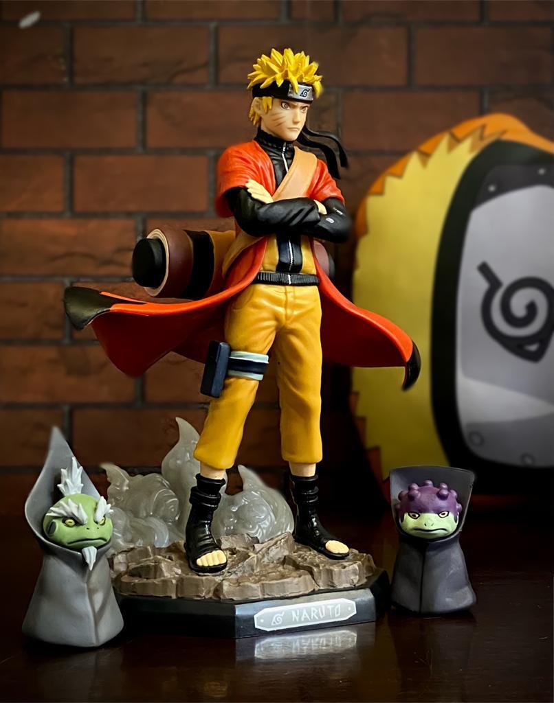 Estátua Naruto Modo Sabio Sennin: Naruto Shippuden - Anime Mangá