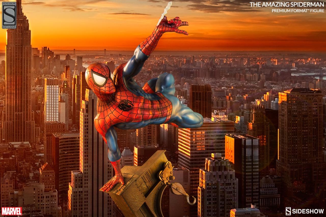 Estátua O Espetacular Homem Aranha The Amazing  Spider Man Marvel Comics Escala 1/4 Format Premium  - Sideshow Collectible - CD