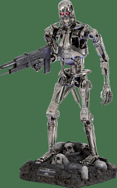 Estátua O Exterminador (Terminator Endoskeleton T-800): O Exterminador do Futuro Escala 1/2 - Sideshow