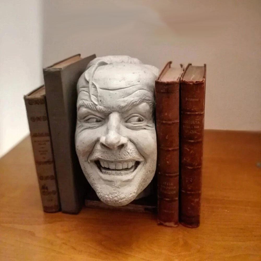 Estátua O Iluminado Jack Nicholson Porta Livros 18 cm - Fanatic Studios