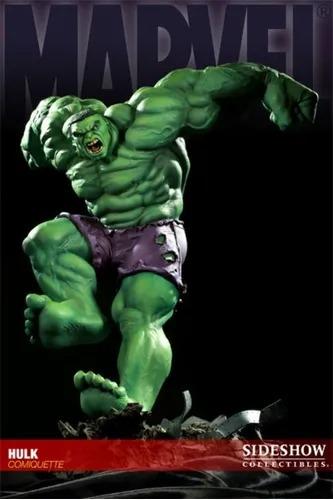 Estátua O Incrivel Hulk Marvel Comics Escala 1/3 Comiquette  - Sideshow Collectible - CD