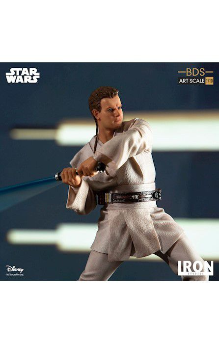 Estátua Obi-Wan Kenobi: Star Wars A Ameaça Fantasma (The Phantom Menace) (BDS Art) (Escala 1/10) - Iron Studios