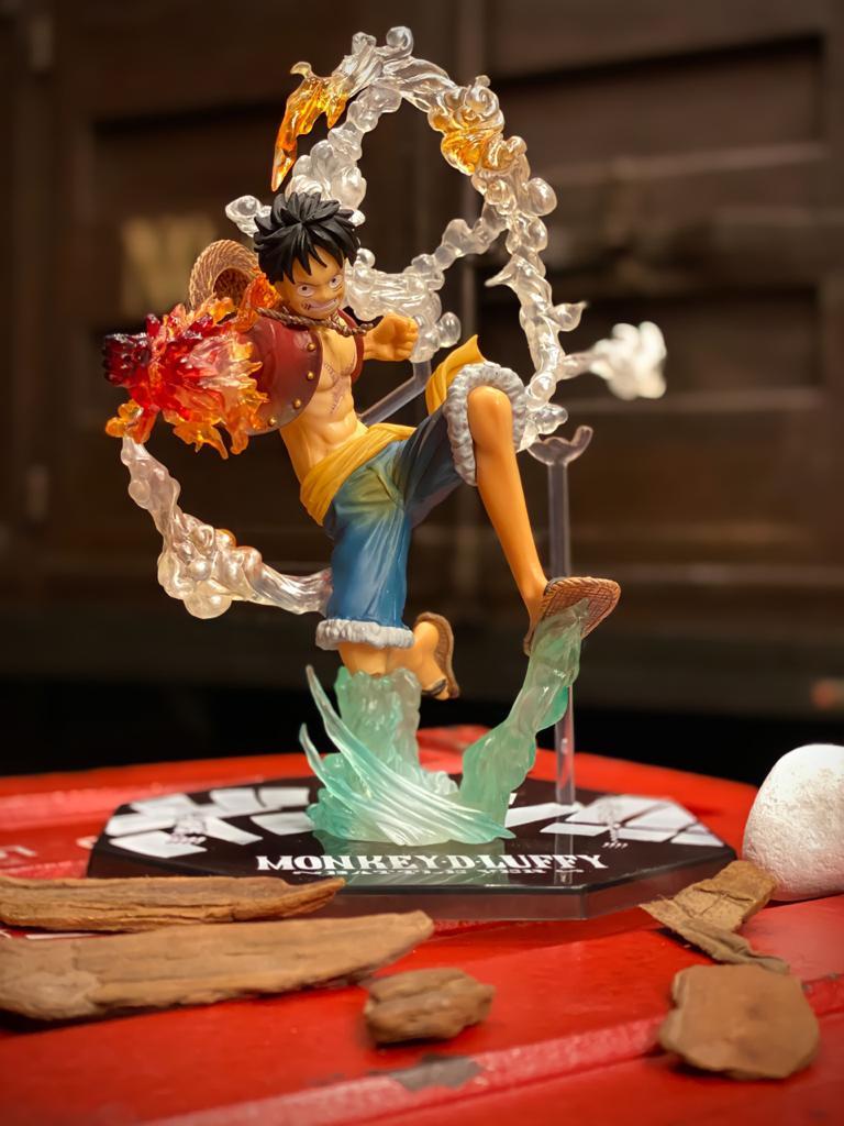 Estátua One Piece Action Figure Luffy Figuarts Battle Version