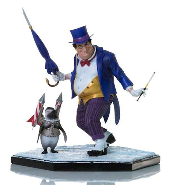 Estátua Penguin (Pinguim): DC Comics (By Ivan Reis) Art Scale Escala 1/10 - Iron Studios