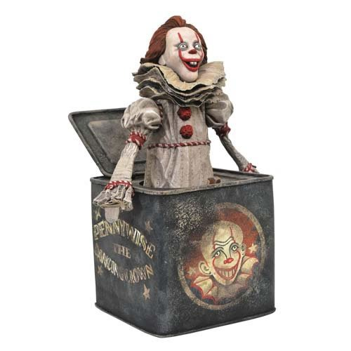 Estatua Pennywise na Caixa (Pennywise-in-the-Box): IT A Coisa Capitulo 2 (IT Chapter 2) - Gallery Statues (Apenas Venda Online)