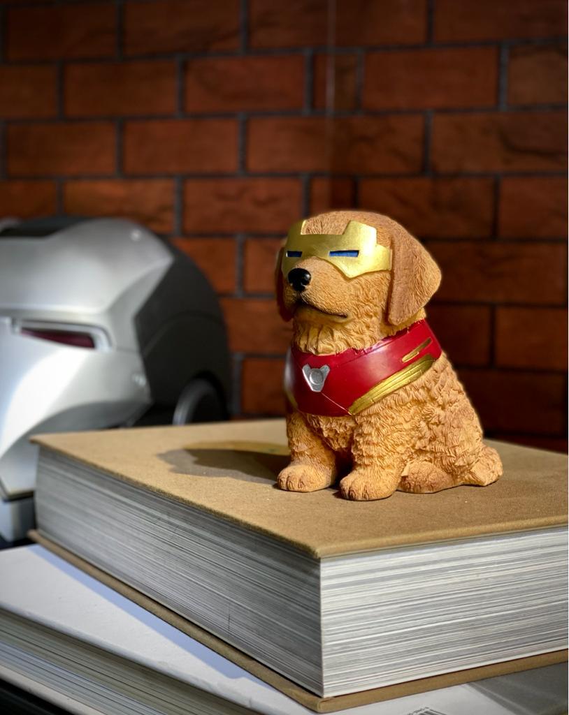 Estátua Cachorro Dog Pet Heroes Homem de Ferro (Iron Man): Vingadores (Avengers)
