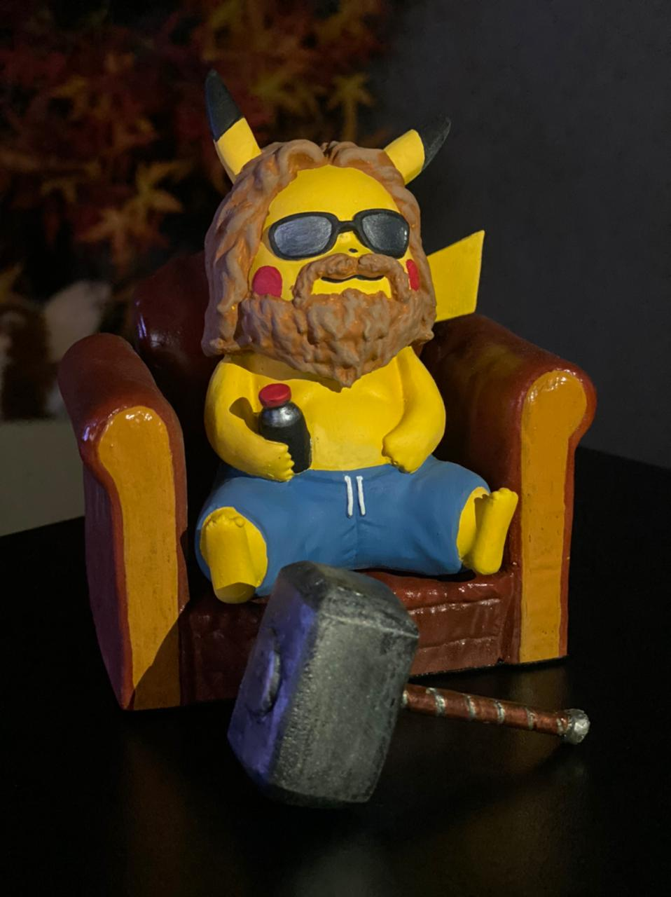 Estátua Pikachu ''Fat Thor'': Escala 1/10 - Fanatic Studios