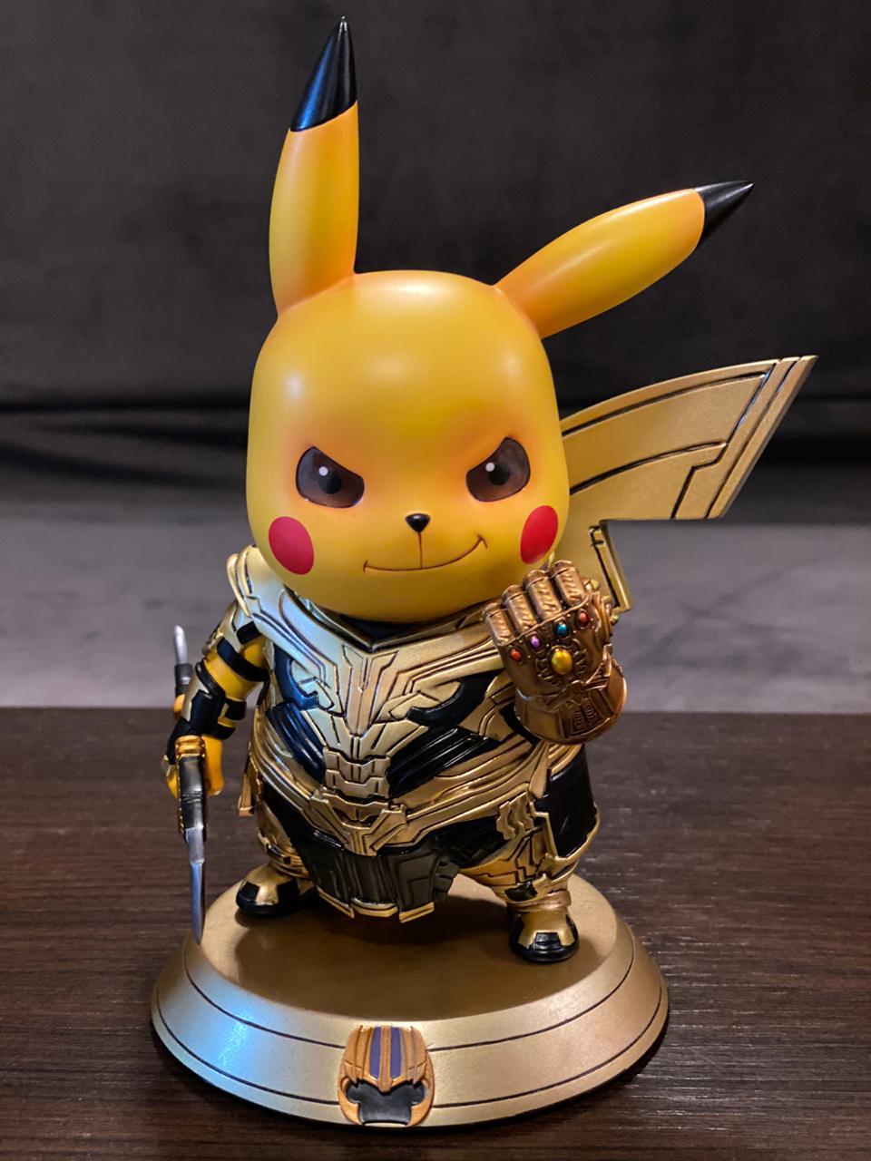 Estátua DieCast Pikachu Thanos: Vingadores Ultimato (Avengers Endgame)