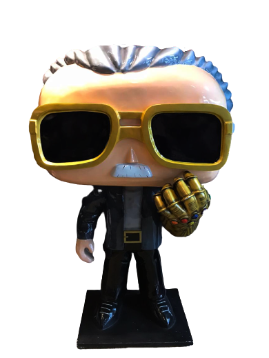 Estátua Pop Stan Lee com a Manopla do Infinito (with Infinity Gauntlet): Marvel