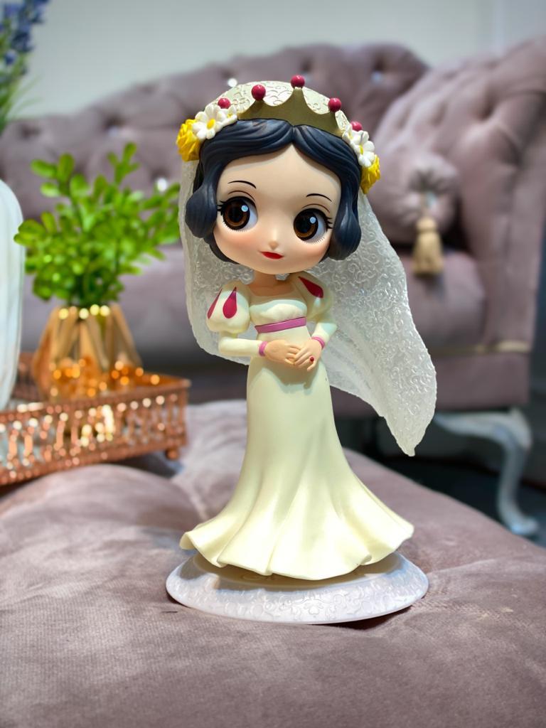 Estátua Princesa Branca De Neve (Noiva Vestido Creme): Branca De Neve Disney Qposket - Banpresto