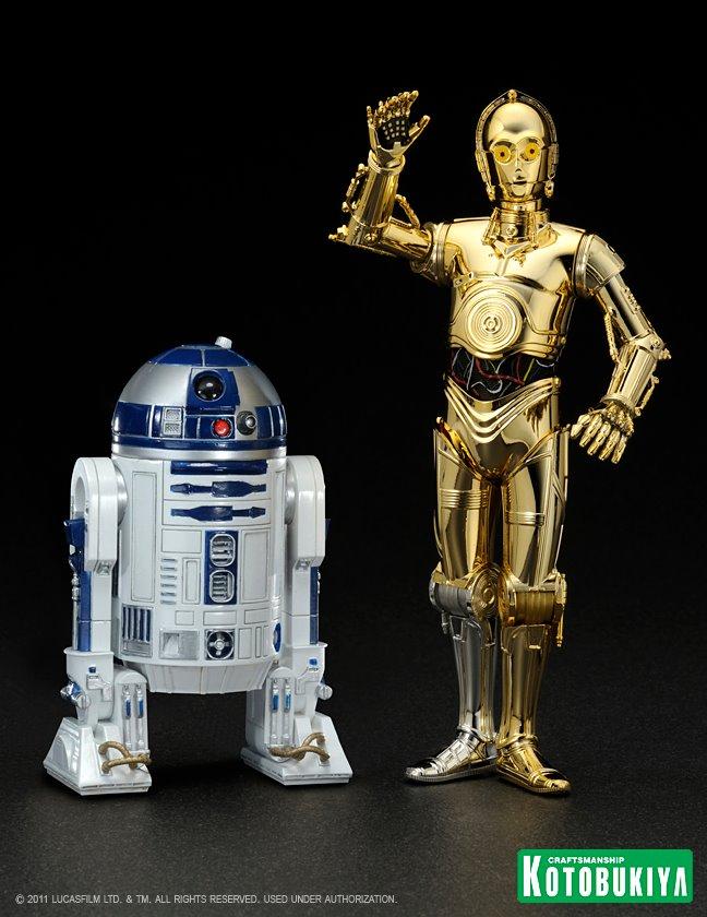 Estátua R2-D2 & C-3PO: Star Wars ArtFX+ Statue Escala 1/10 - Kotobukiya