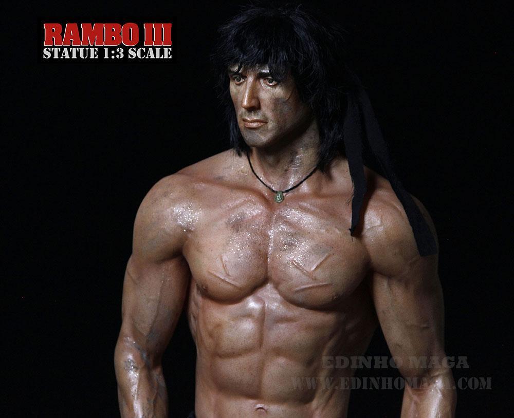 Estátua Rambo III Escala 1/3 - Edinho Maga