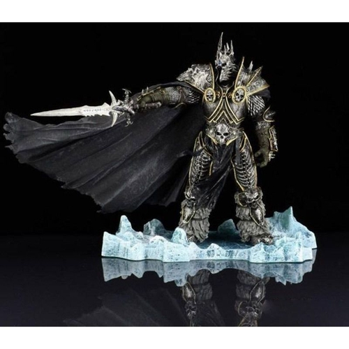 Estátua Rei Arthas Menethil World Of Warcraft Wrath The Lich King Deluxe Collector 21 cm - DC Unlimited