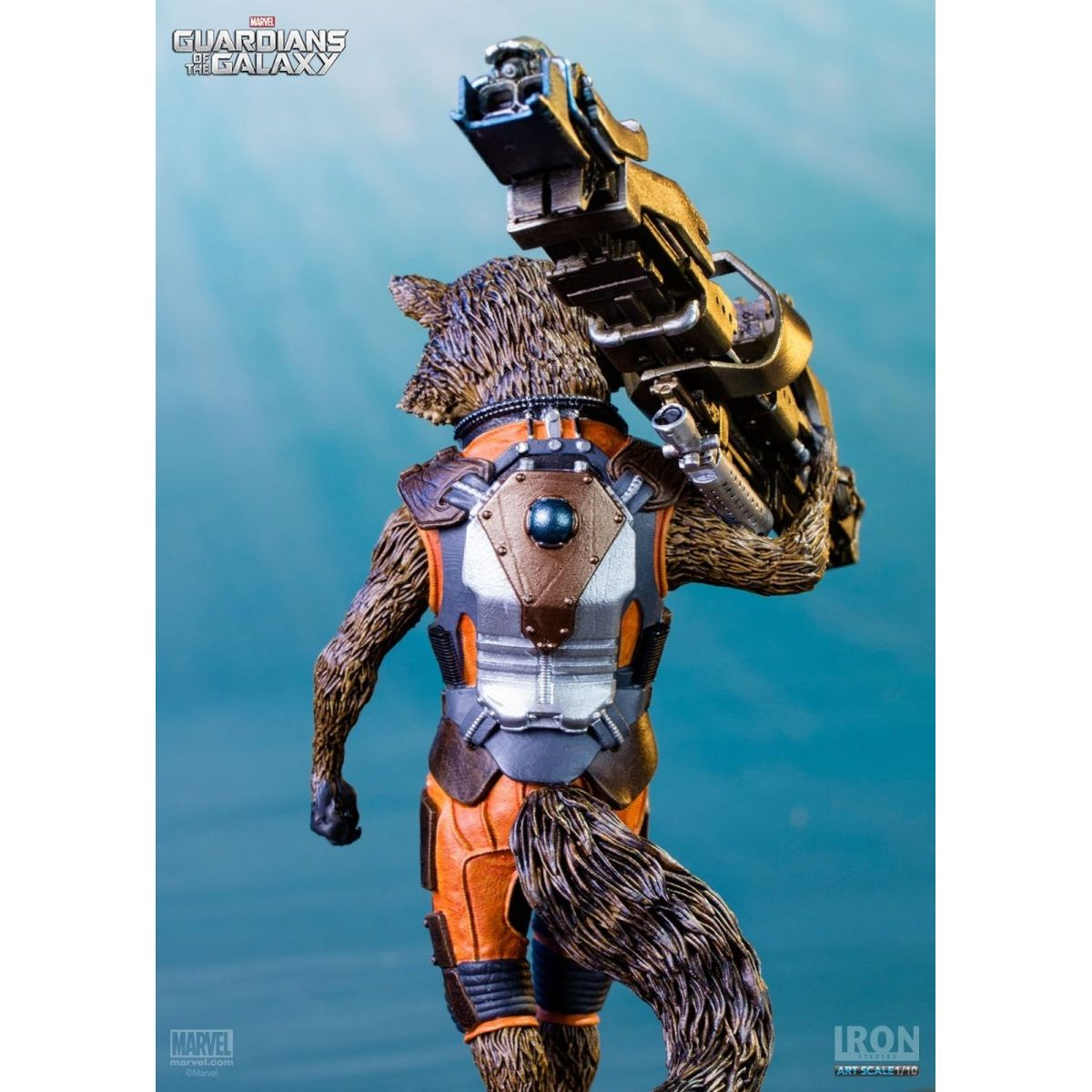 Estátua Rocket Raccoon: Guardiões da Galáxia Escala 1/10 - Iron Studios - CD