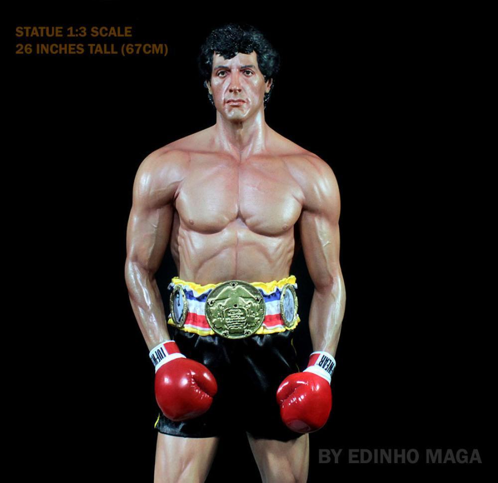 Estátua Rocky III Escala 1/3 - Edinho Maga