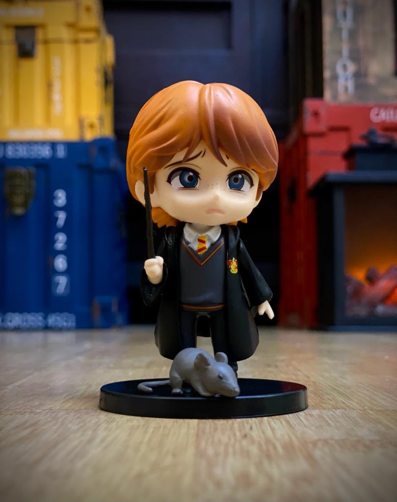 Estátua Ron Weasley e Perebas (Qposket): Harry Potter