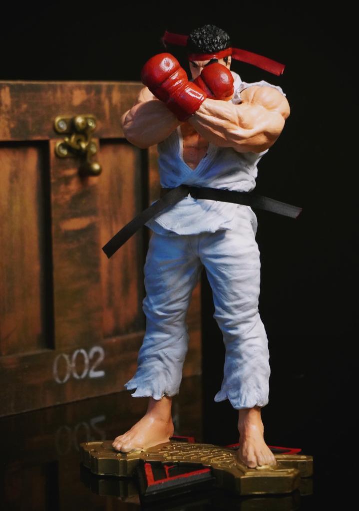 Estátua Ryu Street Fighter V Pose De Luta 26 cm
