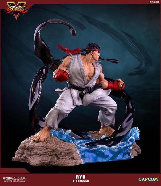 Estátua Ryu: Street Fighter (V-Trigger) Escala 1/6 -  Pop Culture Shock (Apenas Venda Online)