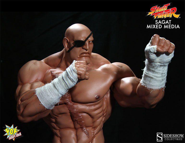 Estátua Sagat: Street Fighter Alpha (Escala 1/4) - Pop Culture Shock